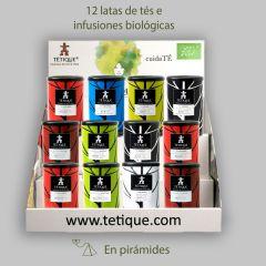 "Pack de 12 Tés en pirámide ""Degustador"" para hostelería."