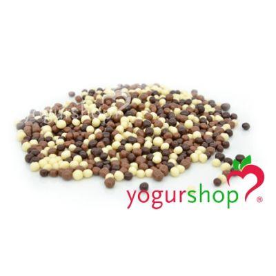 Bolinhas de Arroz com Chocolate Tricolor Caixa 2,5 kg