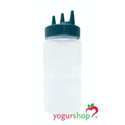bote dispensador biberon a presion salsas topping triple 500 ml