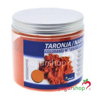 Colorante laca naranja en polvo