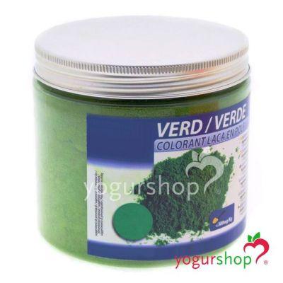 Colorante laca verde en polvo