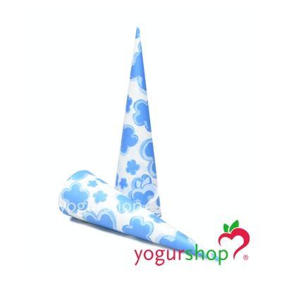 Cono de papel para helados modelo Flores Azul 2000 uds