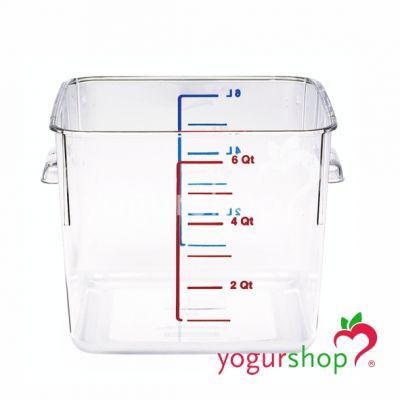 Envase transparente 5,7L