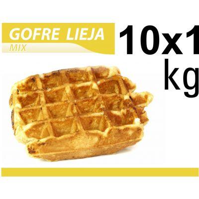Massa de Waffle Belga em Pó Lieja Gofrelino® 10 x 1 kg