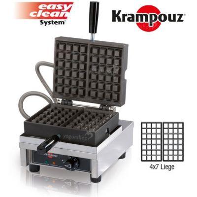 Máquina de Waffles 90º KRAMPOUZ Liege 4X7L