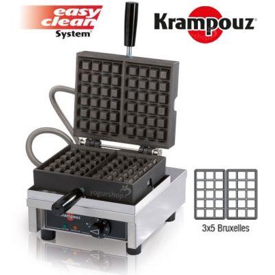 Máquina de Waffles 90º KRAMPOUZ Bruxelles 3X5B