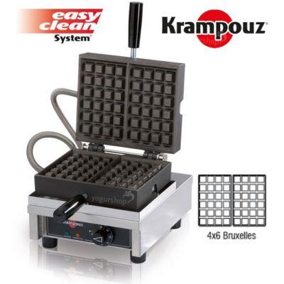 Máquina de Waffles 90º KRAMPOUZ Bruxelles 4X6B