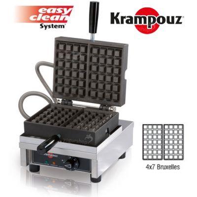 KRAMPOUZ Máquina de Waffles 90 graus de abertura  yogurshop 4x7-B bruxelles