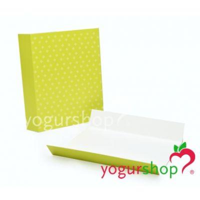 Porta gofres de cartón Verdes Caja 500 uds