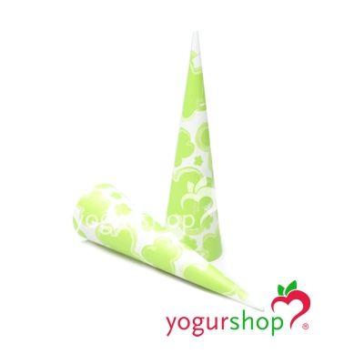 Cono de papel para helados modelo Flores Verde 2000 uds
